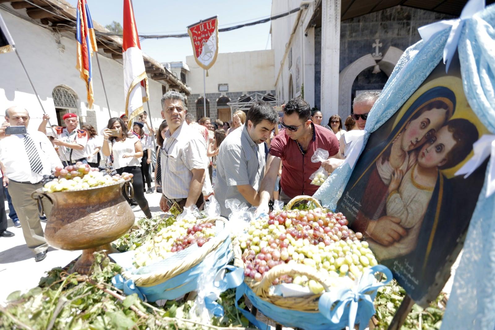 Syryjscy chrześcijanie fot. EPA/YOUSSEF BADAWI