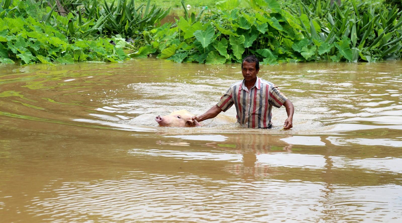Powodzie w Indiach fot. EPA/PRAKASH ELAMAKKARA
