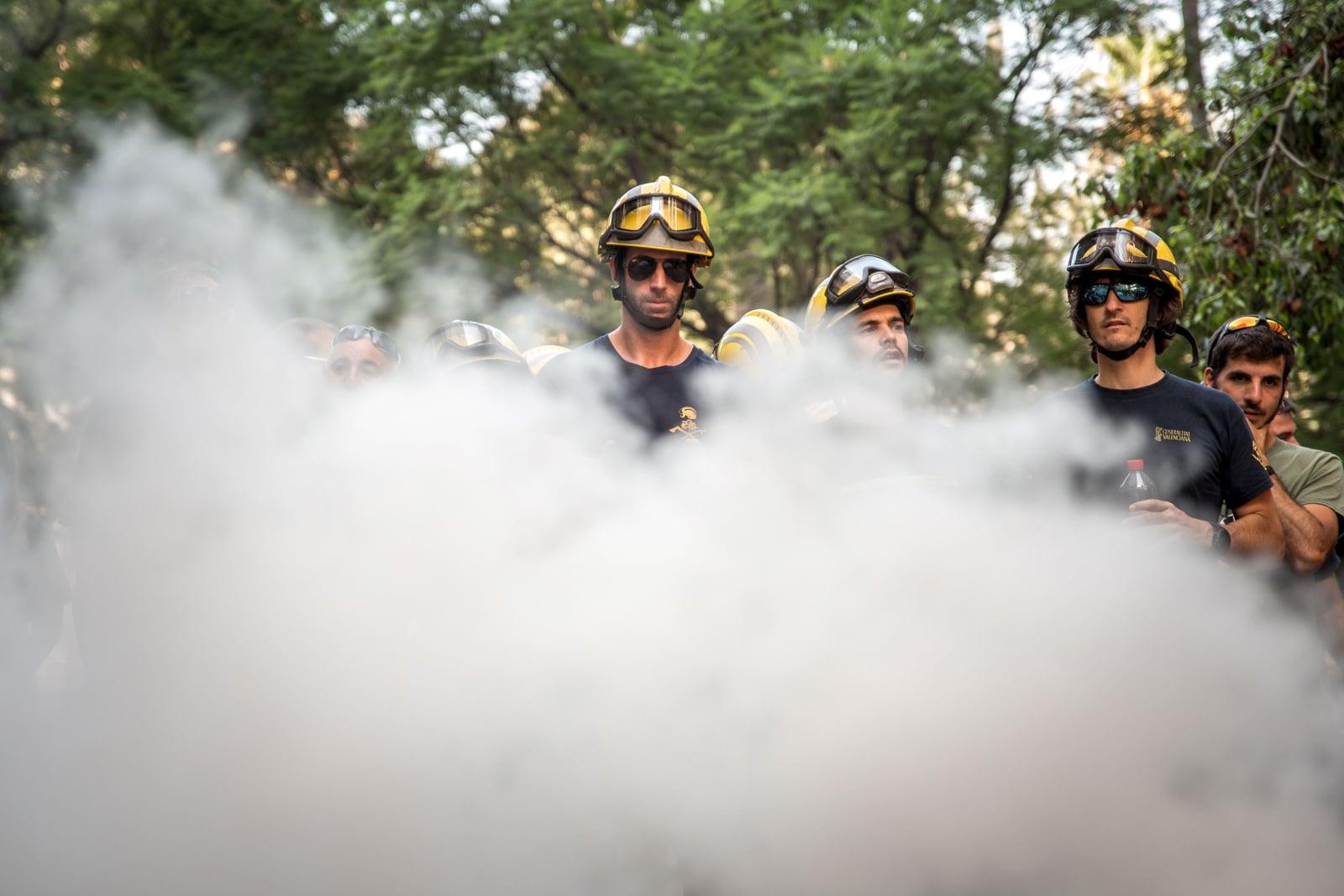 Dzisiejszy protest strażaków w Walencji