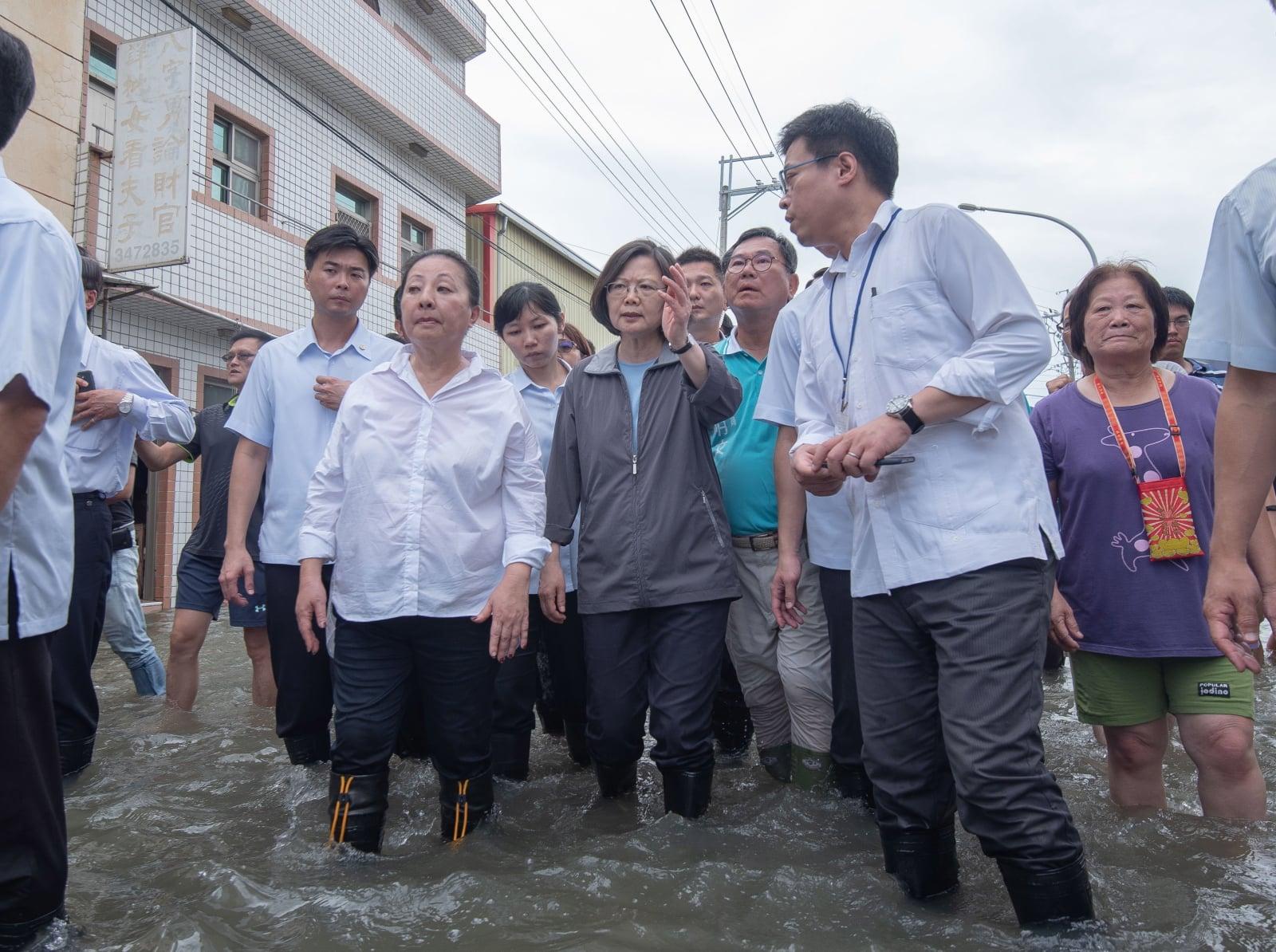 Powódź na Tajwanie   EPA/TAIWAN PRESIDENTIAL OFFICE
