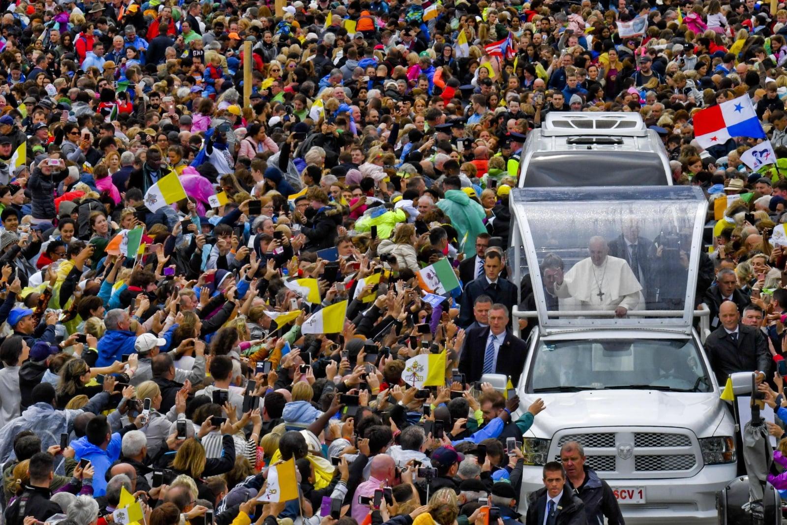 Pielgrzymka papieża Franciszka do Irlandii  EPA/CIRO FUSCO