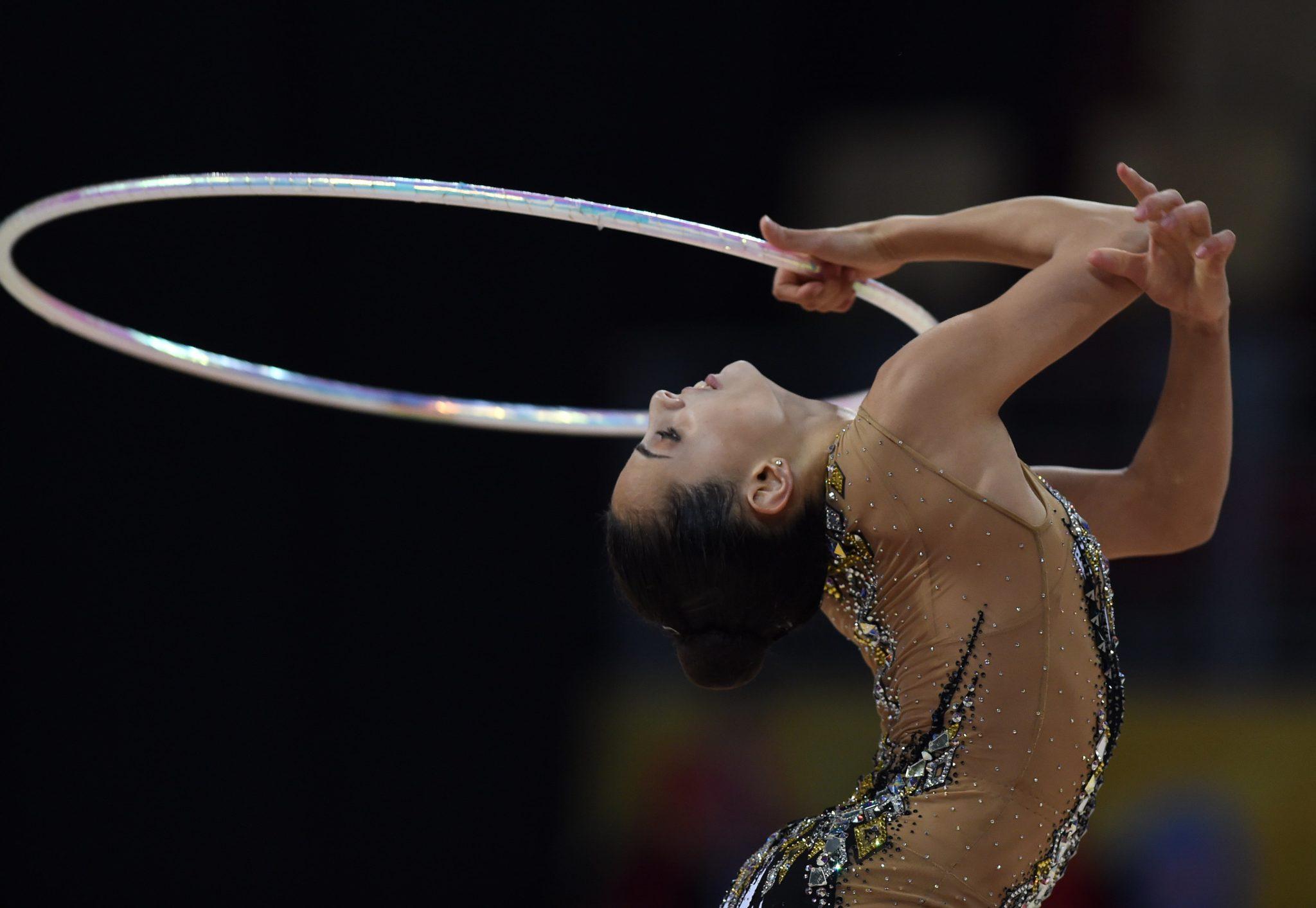 Bułgaria: Linoy Ashram z Izraela podczas finału Hoop na 36. Mistrzostwach Świata w Gimnastyce Rytmicznej w Sofii, fot. Borislav Troshev, PAP/EPA