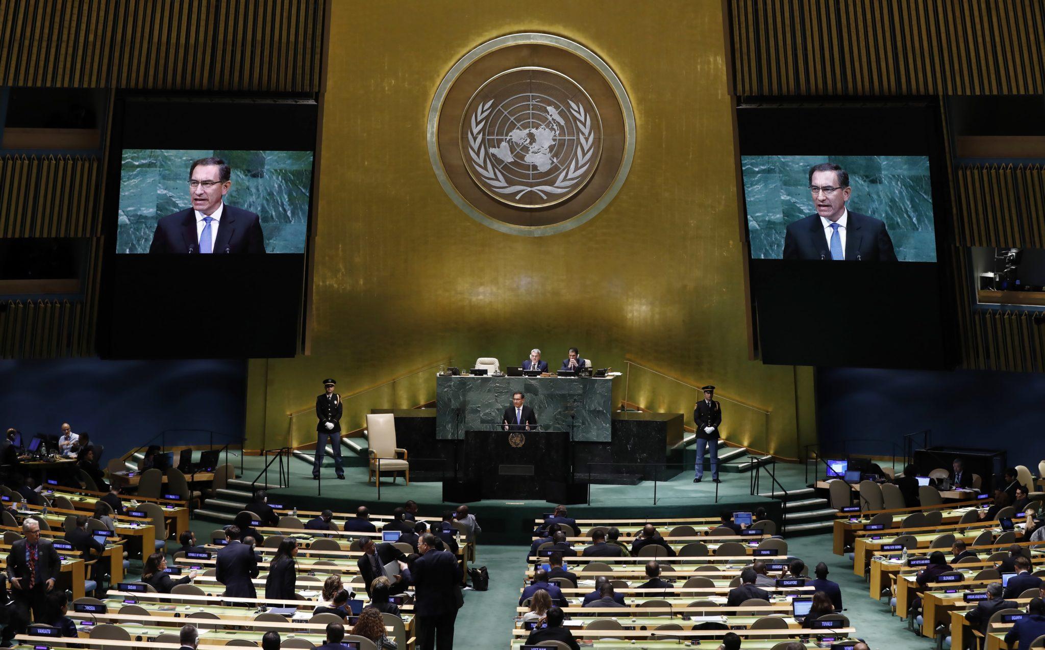 Nowy Jork: Sesja Zgromadzenia Ogólnego ONZ, fot. Justin Lane, PAP/EPA