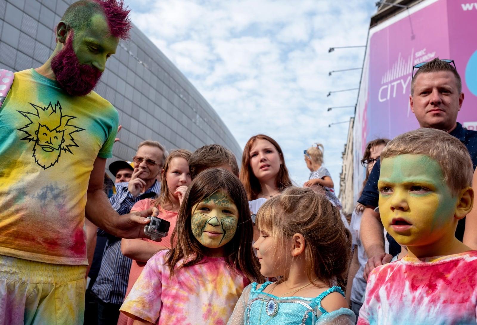 Przemarsz Superbohaterów ulicami miasta Katowic odbyły się w ramach 10. Międzygalaktycznego Zlotu Superbohaterów.