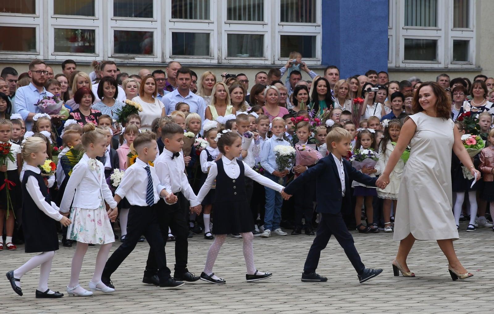 Przygotowania do rozpoczęcia roku szkolnego na Białorusi fot. EPA/TATYANA ZENKOVICH