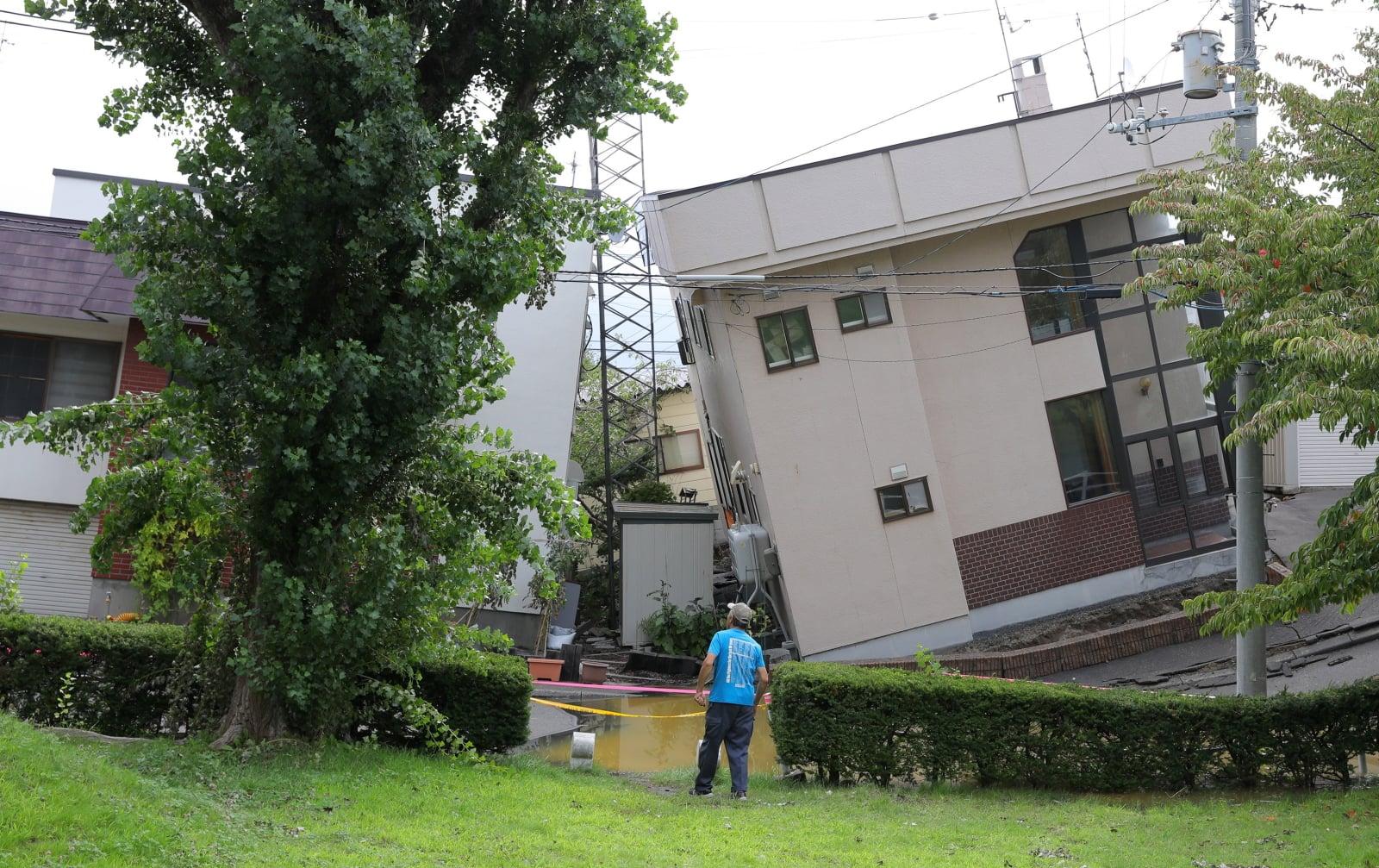 Trzęsienie o magnitudzie 6,7 miało miejsce na wyspie Hokkaido. Fot. PAP/EPA/JIJI PRESS