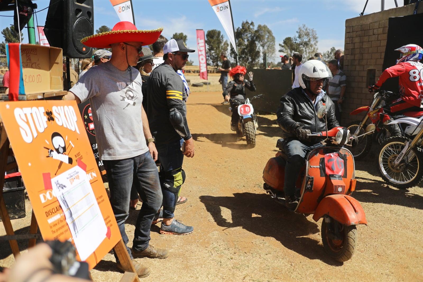 Zawody motocyklistów, Johannesburg, Arfryka