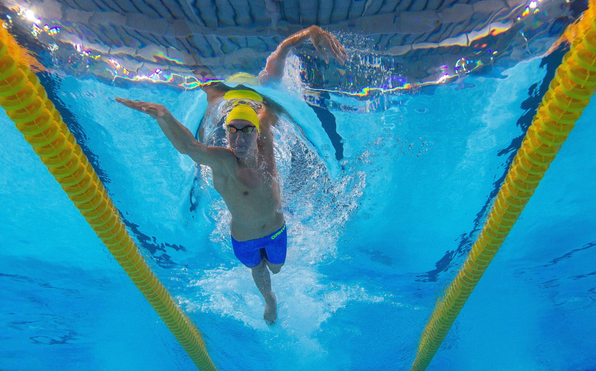 Argentyna: Robin Hanson ze Szwecji rywalizujące na dystansie 200 m stylem dowolnym w pływaniu dla mężczyzn na Młodzieżowych Igrzysk Olimpijskich w Buenos Aires, fot. Joel Marklund, OIS, IOC