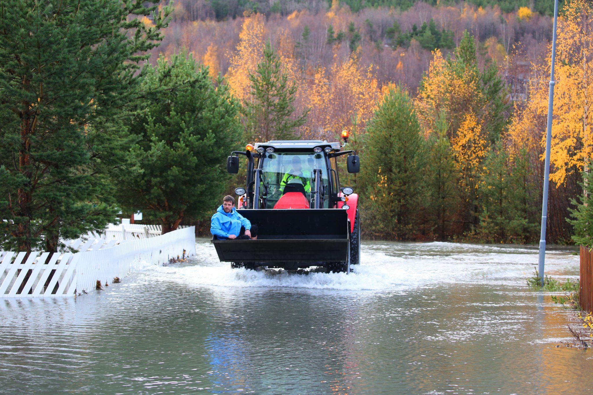 Norwegia: zalane tereny w Bismo, około 400 km na północ od Oslo, fot. EPA