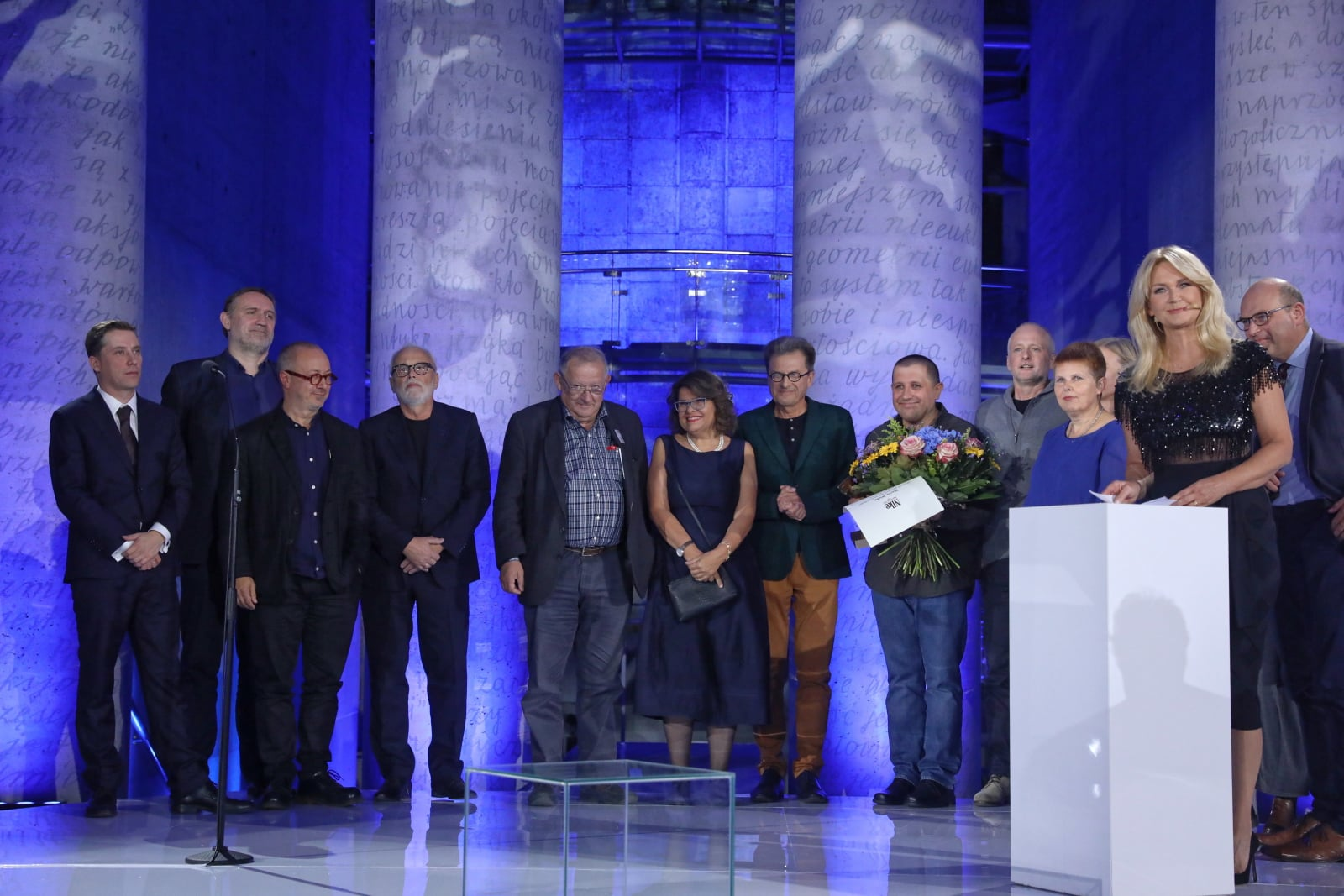 Gala rozdania 22. nagrody Nike w Bibliotece Uniwersytetu Warszawskiego.  Laureatem Literackiej Nagrody Nike za zbiór opowiadań