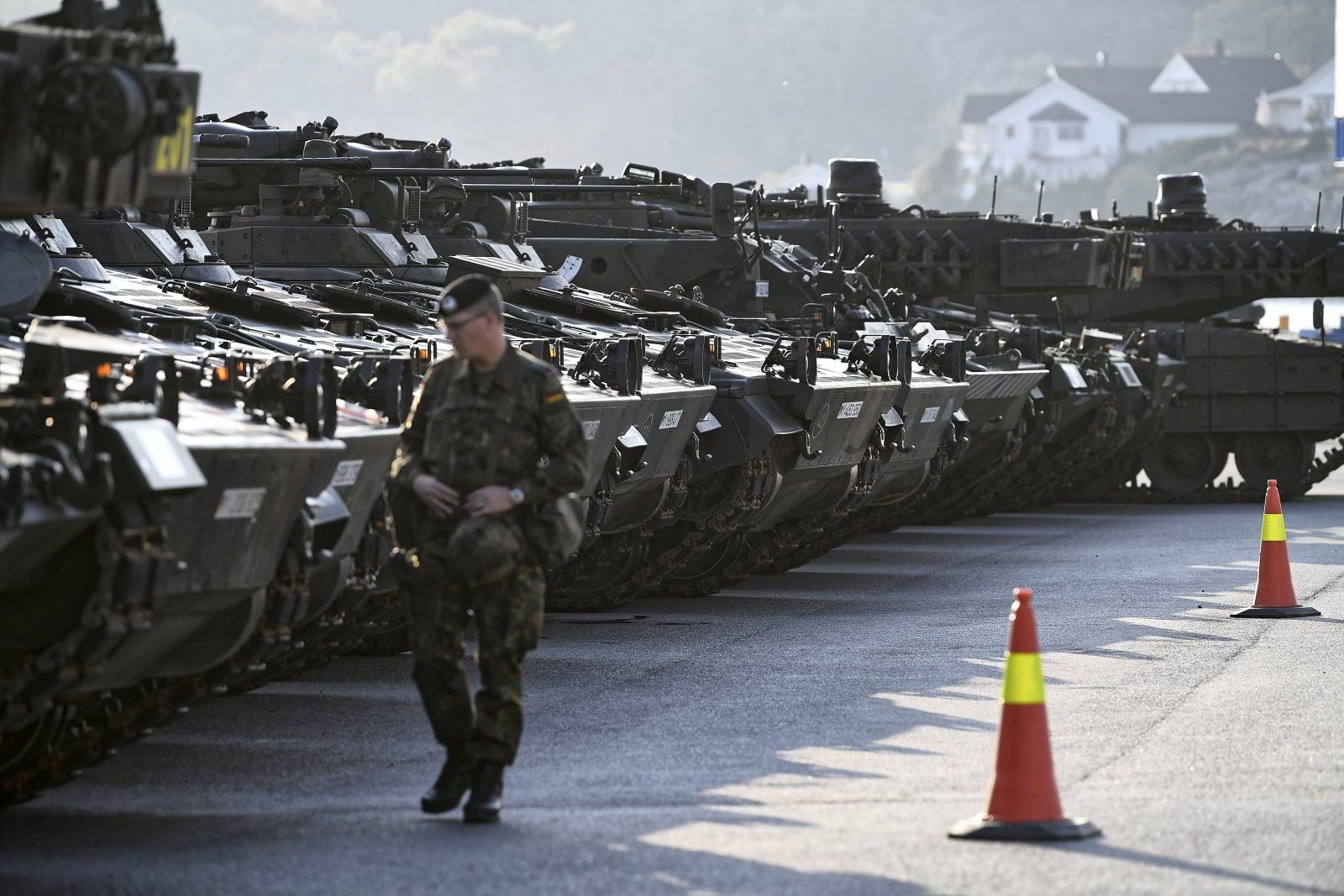 Przeładowanie flanki NATO w Norwegii fot. PAP/Adam War¿awa