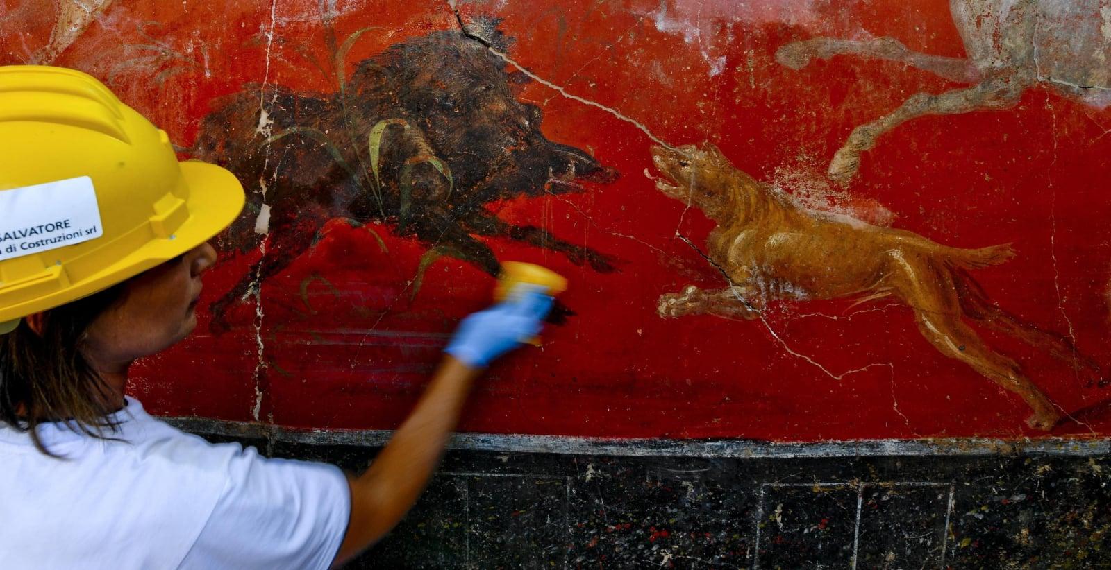 Prace archeologiczne w Pompejach EPA/CIRO FUSCO
