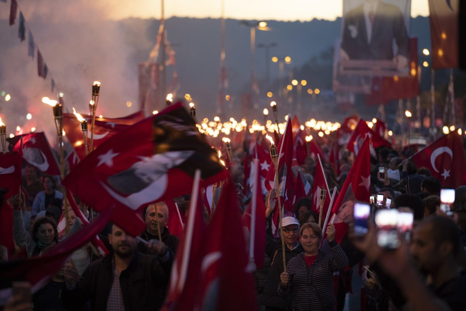 Turecki Dzień Republiki, Istambuł Fot. EPA/TOLGA BOZOGLU