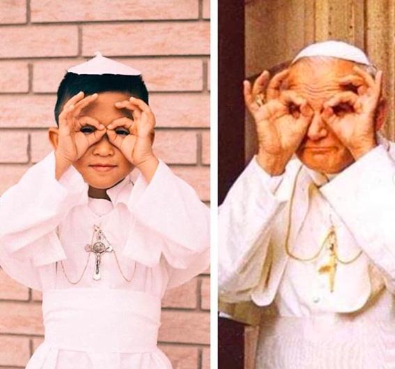 Fot. Jan Paweł II, @mycatholickids, Instagram