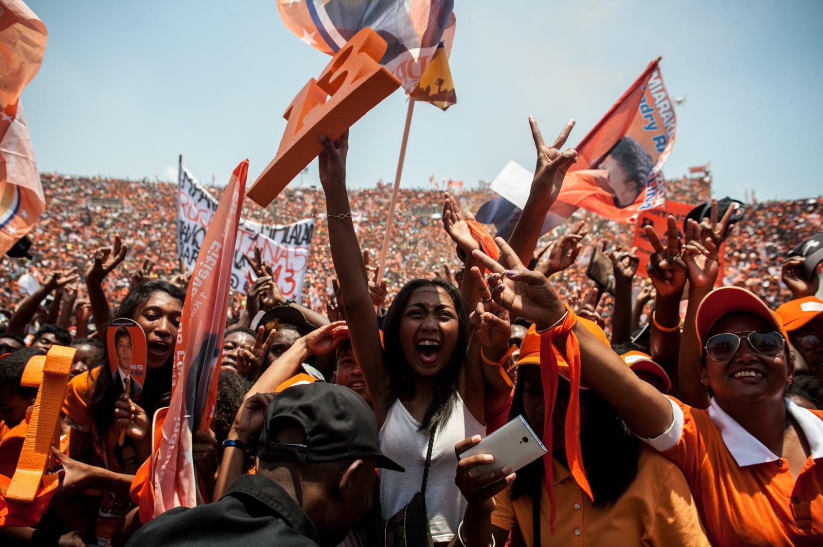 Wybory na Madagaskarze. Fot. PAP/EPA/HENITSOA RAFALIA