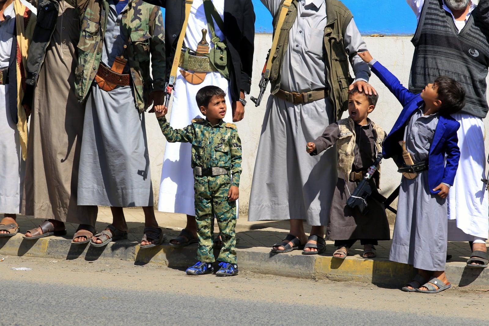 Mobilizacja w Jemenie fot. EPA/YAHYA ARHAB