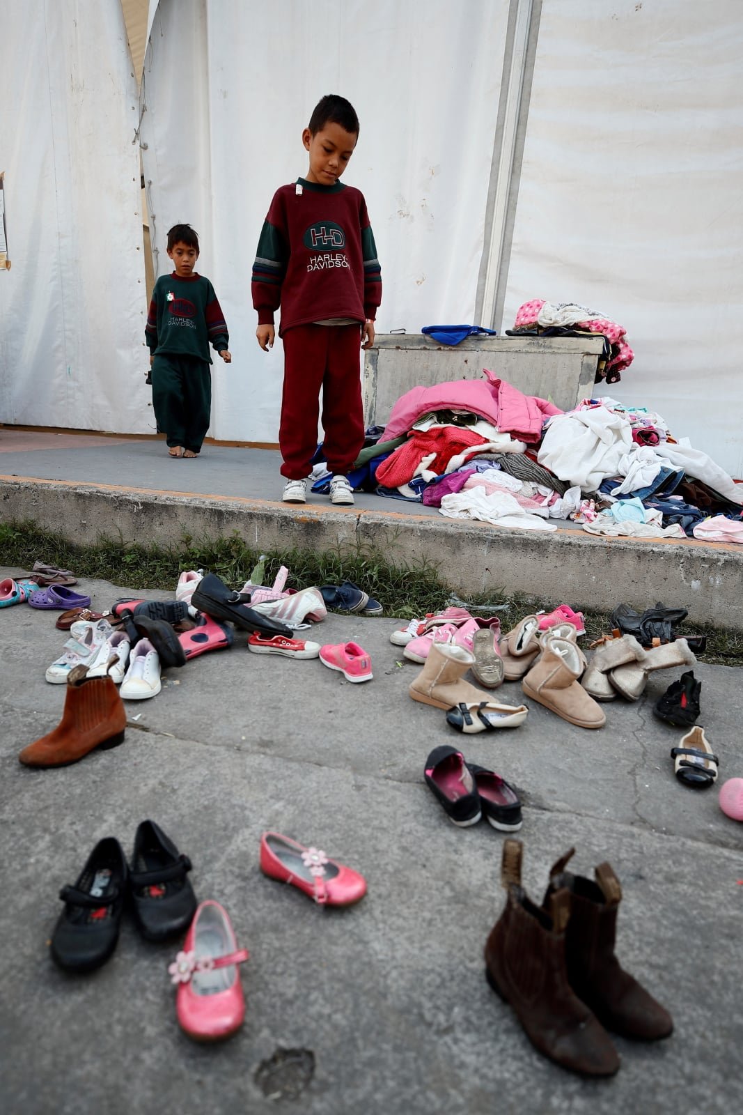 Uchodźcy w Mexico City fot. EPA/Jose Mendez