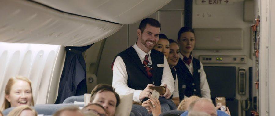 niespodzianka na pokładzie samolotu