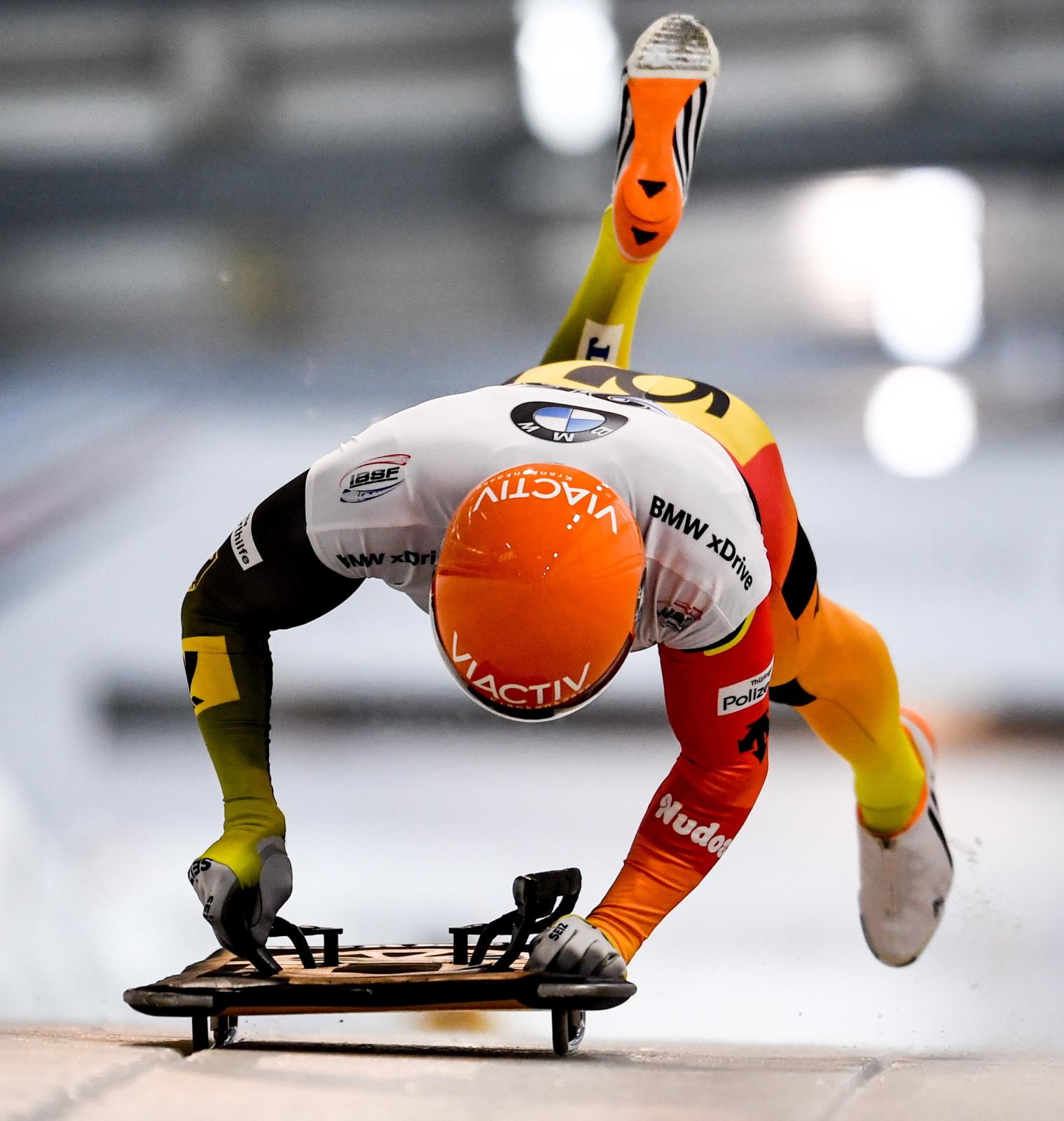 Puchar Świata w skeletonie na torze w niemieckim Altenbergu. Fot. PAP/EPA/FILIP SINGER