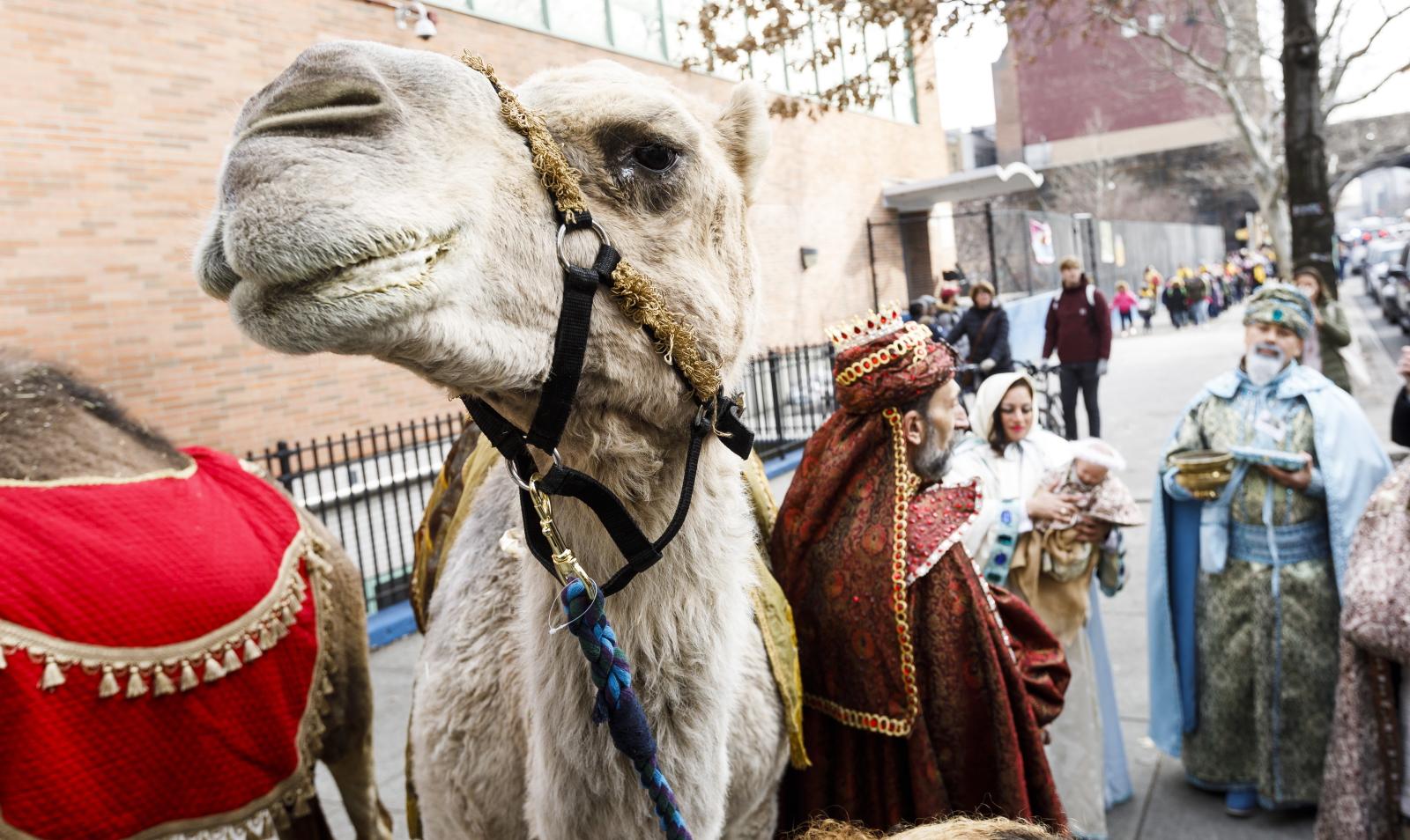 Parada z okazji Dnia 3 Króli w Nowym Jorku. Fot. PAP/EPA/JUSTIN LANE