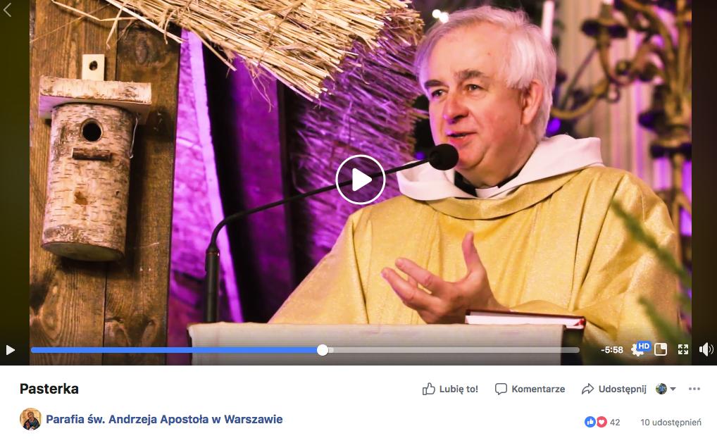 parafia Andrzeja Apostoła Warszawa pasterka kazanie misyjne msza