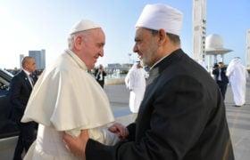 Papież Franciszek Emiraty szejk