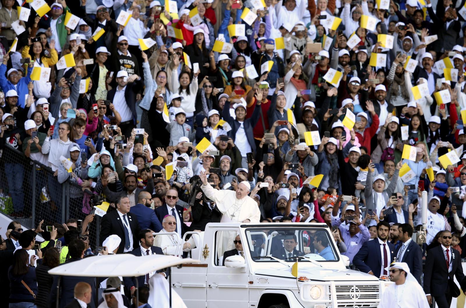papież w zjednoczonych emiratach arabskich