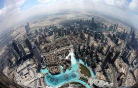 Widok z wieżowca Burj Khalifa