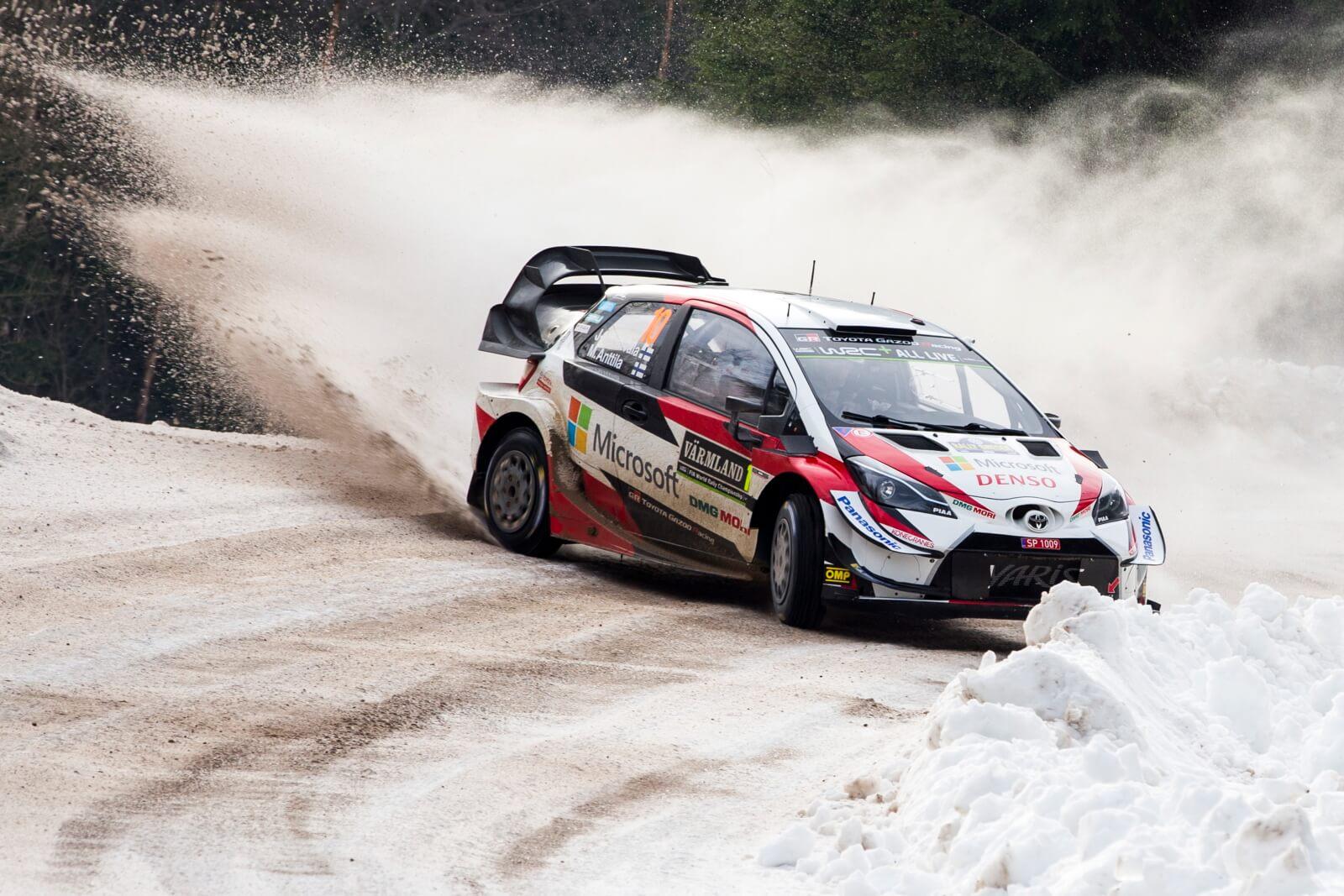 WRC w Szwecji fot.  EPA/Nikos Mitsouras