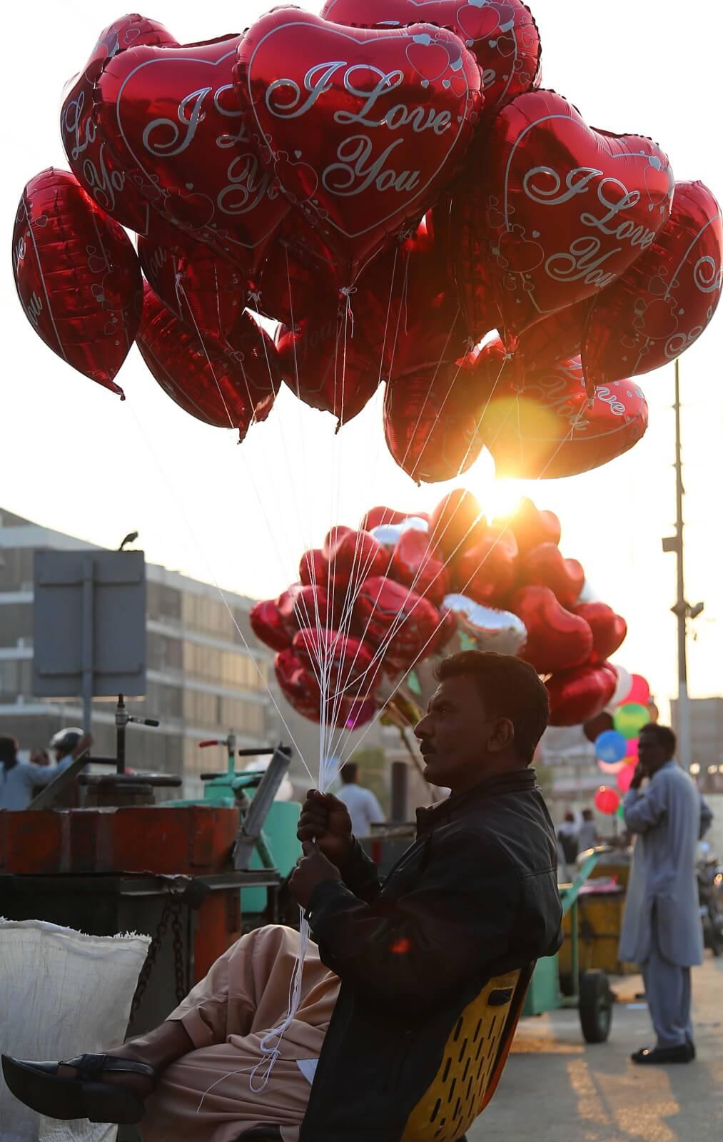 Portest anty-walentynowy w Pakistanie fot. EPA/SHAHZAIB AKBER