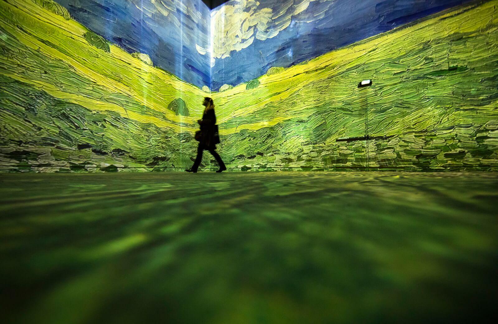 Wystawa dzieł Vincenta Van Gogha w Paryżu fot. EPA/IAN LANGSDON