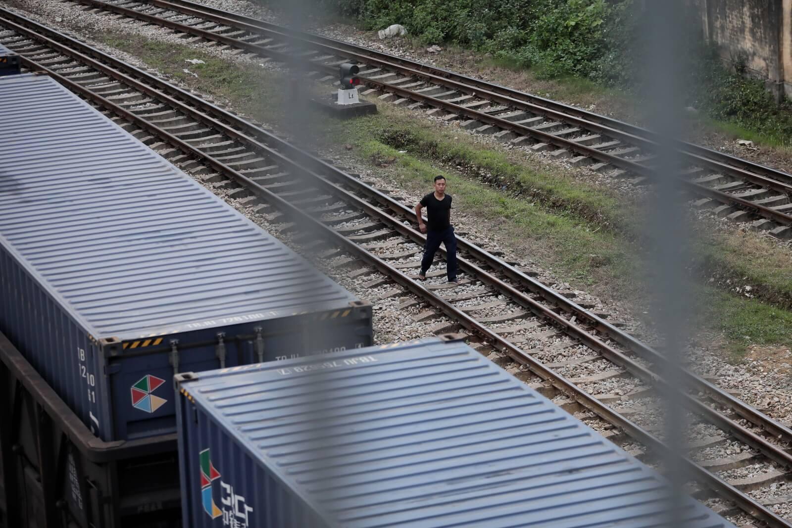 Stacja kolejowa w Wietnamie, na której pojawi się niedługo Kim Dzong Un fot. EPA/LUONG THAI LINH