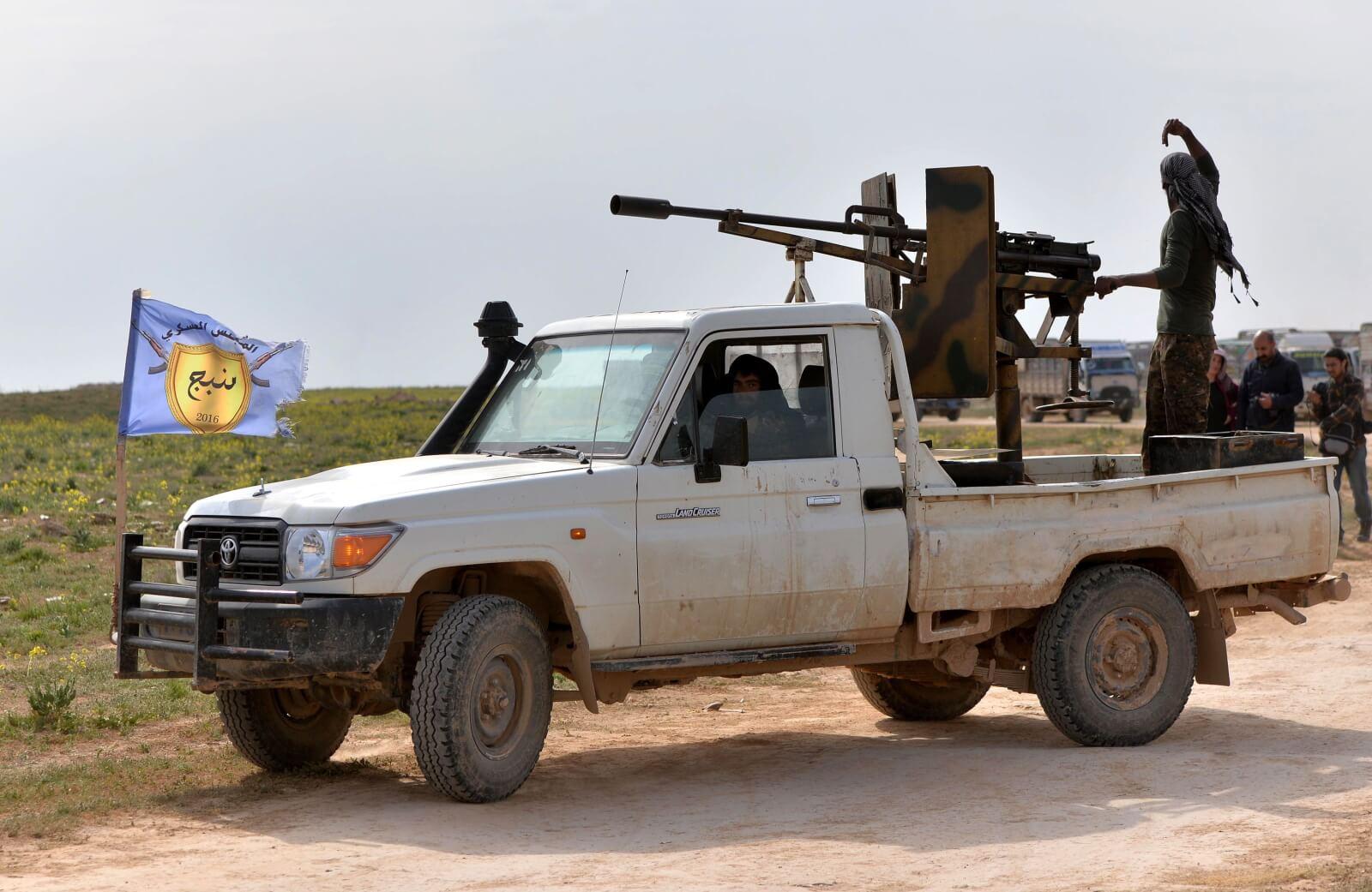 Trwający konflikt w Syrii fot. EPA/MURTAJA LATEEF