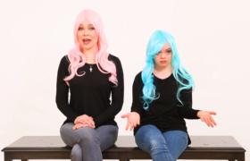 Blue hair, niebieskie włosy, Zespół Downa