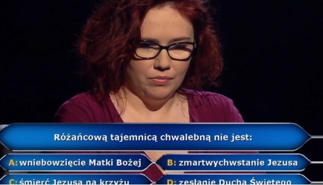 Zwyciężczyni Milionerów - rozmowa z Katarzyną Kant-Wysocką. Pytanie za milion - tajemnice rózańca. Rozmowa misyjne.pl