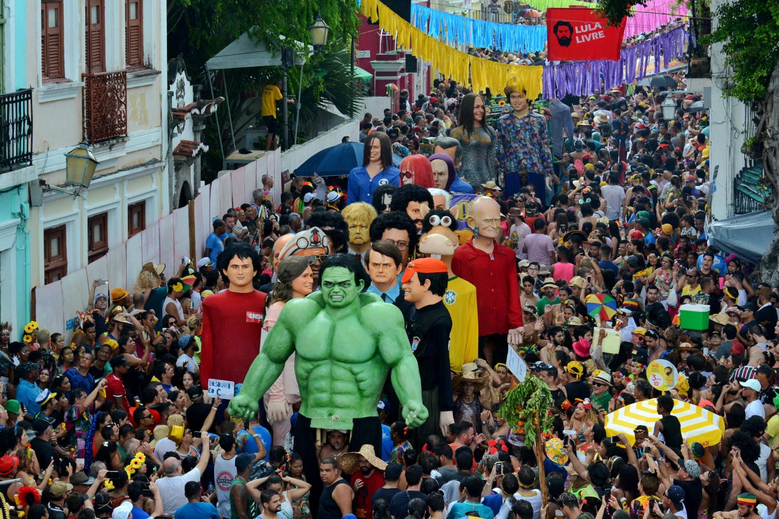 Karnawał w Brazylii fot. EPA/NEY DOUGLAS