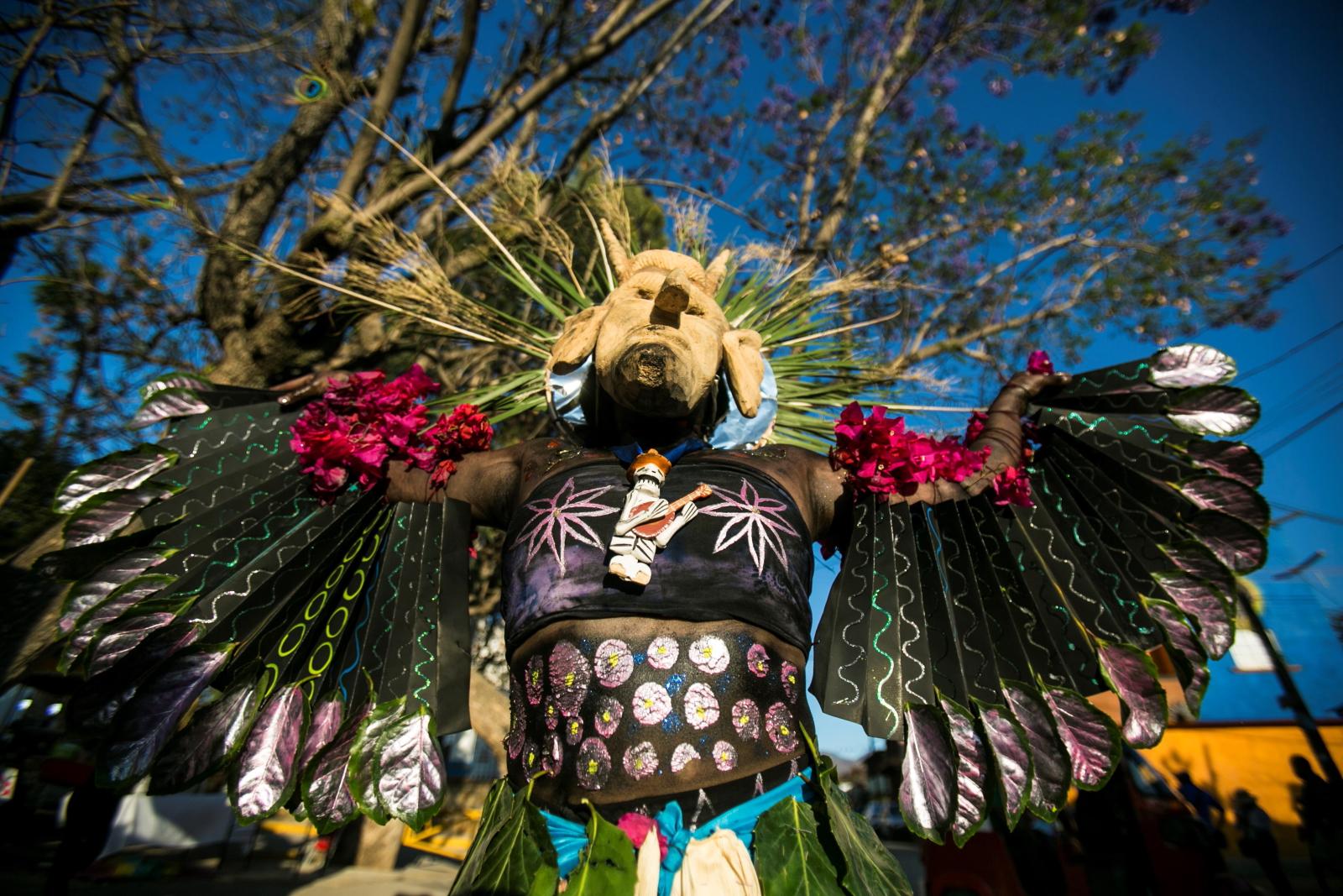 Karnawał w Meksyku. Fot. PAP/EPA/Mario Arturo Martinez
