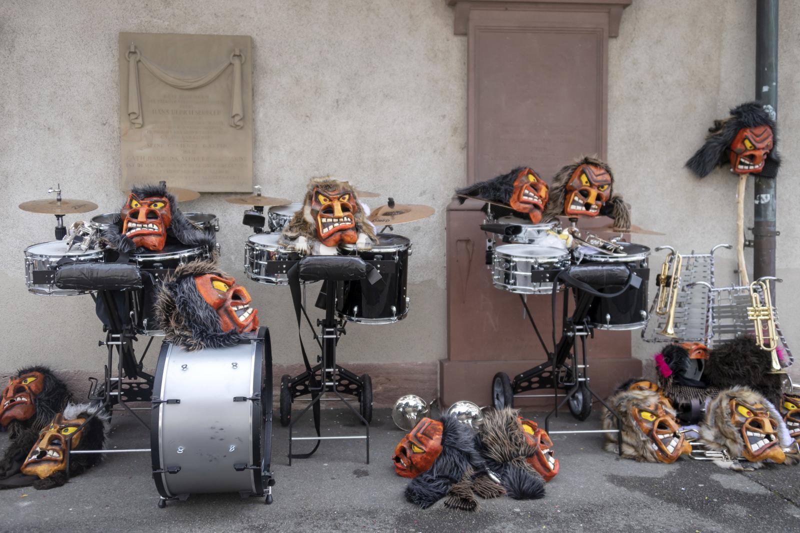 Karnawałowa procesja w Bazylei. Fot. PAP/EPA/GEORGIOS KEFALAS