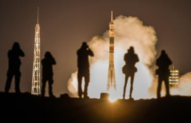 Ekspedycja na Międzynarodową Stację Kosmiczną. fot. EPA/SERGEI ILNITSKY