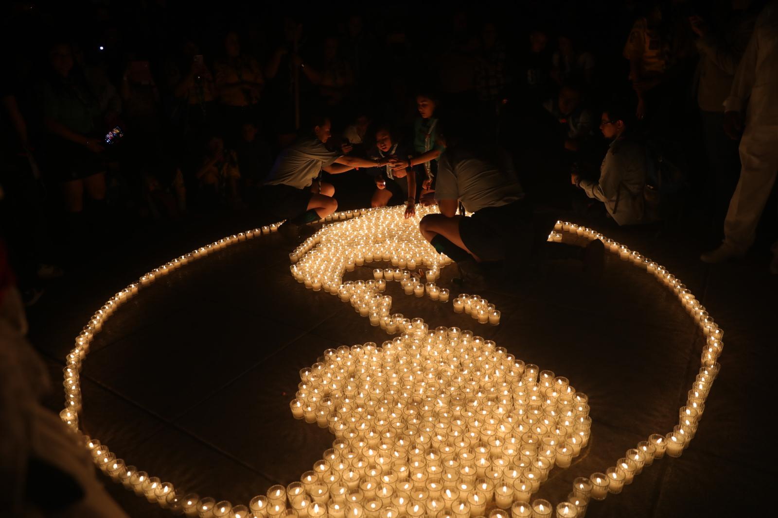 Godzina dla Ziemi w Meksyku. Fot. PAP/EPA/SASHENKA GUTIERREZ