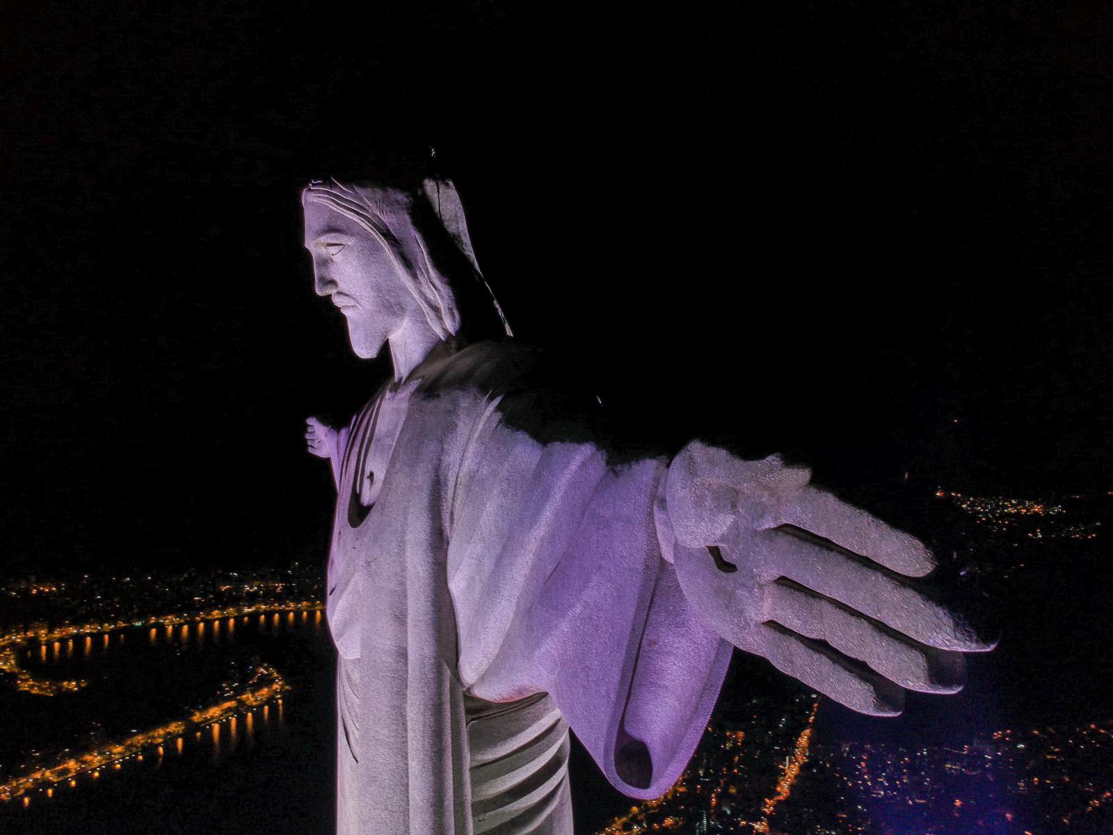 Godzina dla Ziemi w Rio de Janeiro. Fot. PAP/EPA/ANTONIO LACERDA