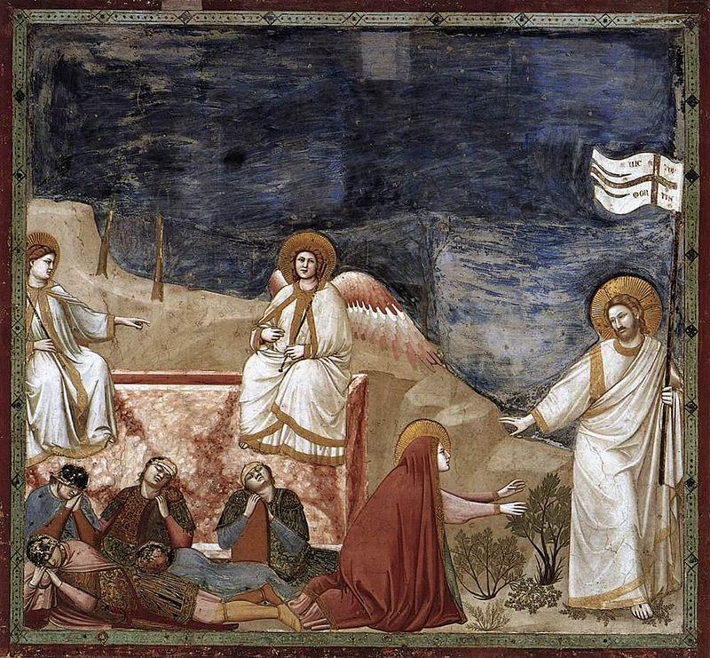 """Giotto di Bondone, """"Noli me tangere"""""""