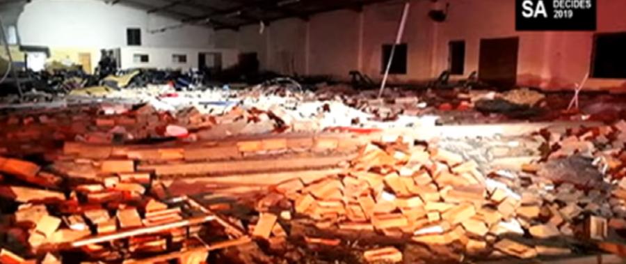 zawalił się dach kościoła Zielonoświątkowców w prowincji KwaZulu-Natal na wschodzie RPA