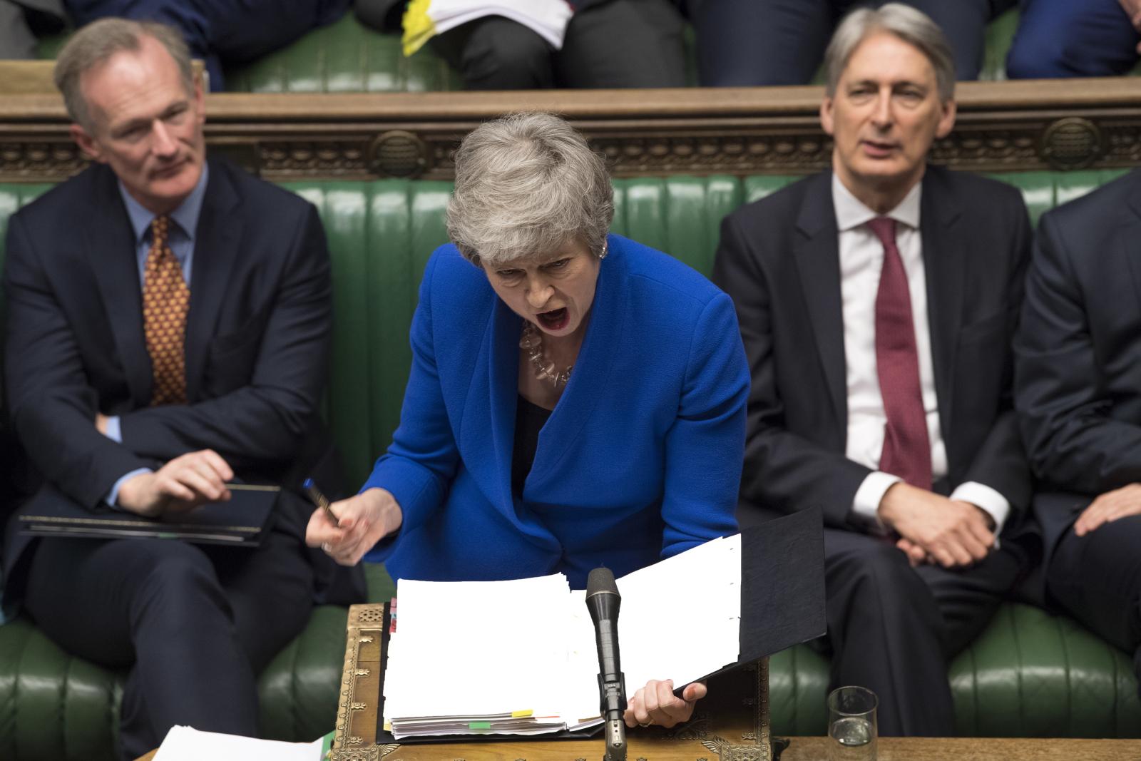 Brytyjska premier Theresa May w parlamencie, Londyn. Fot. PAP/EPA/MARK DUFFY / UK PARLIAMENT