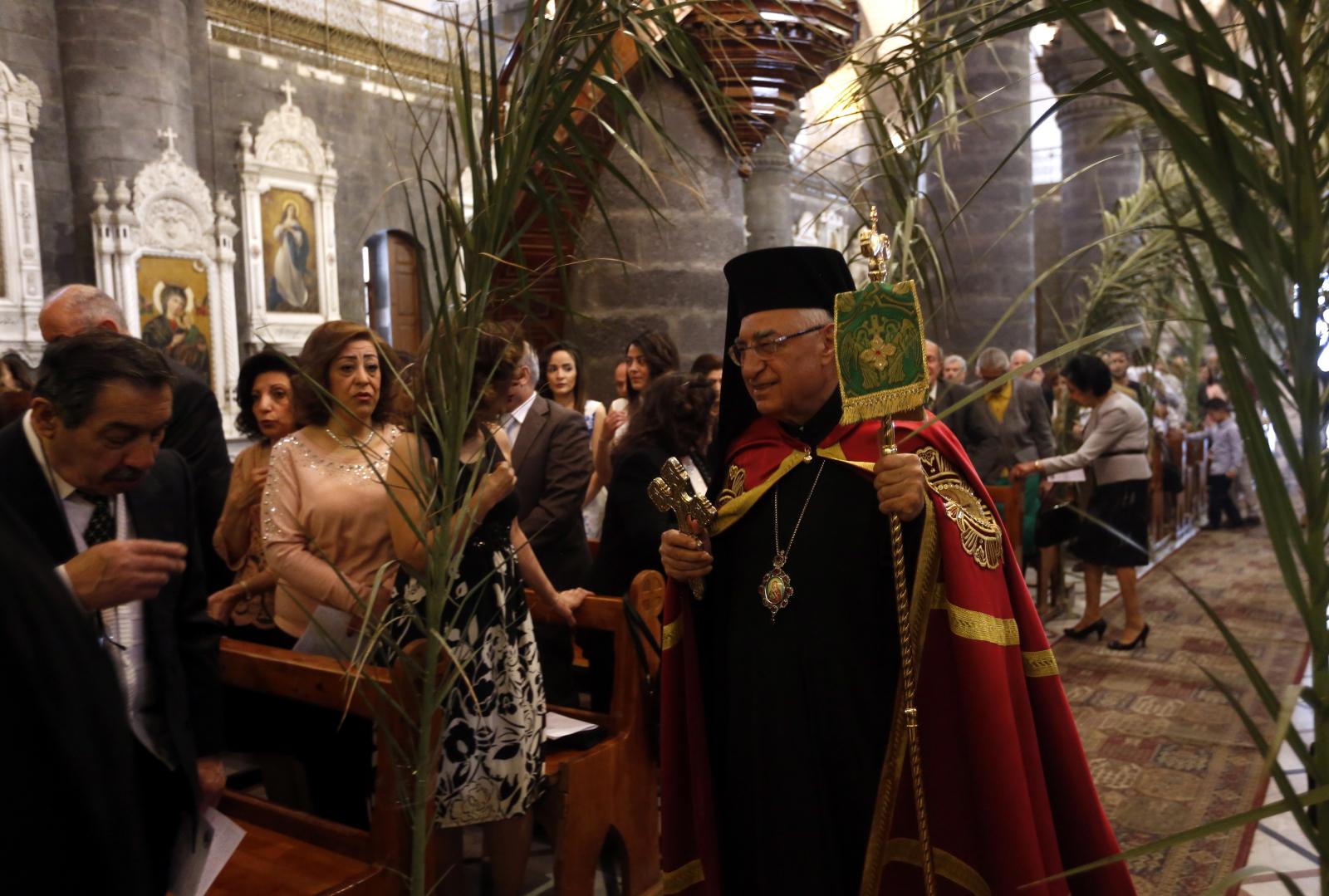Niedziela Palmowa w Damaszku/ EPA/YOUSSEF BADAWI