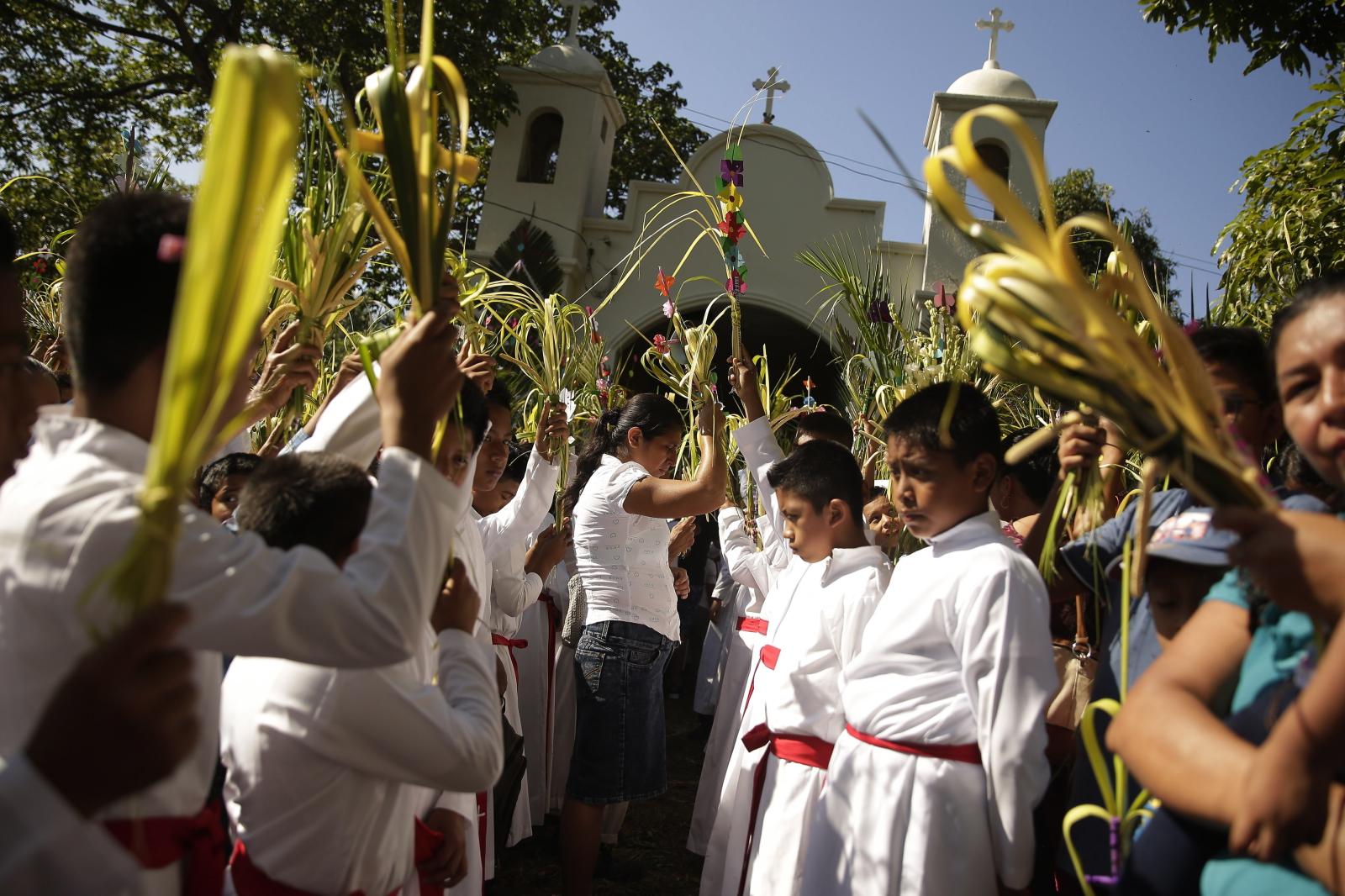 Niedziela Palmowa w El Salvador/PAP/EPA/Rodrigo Sura