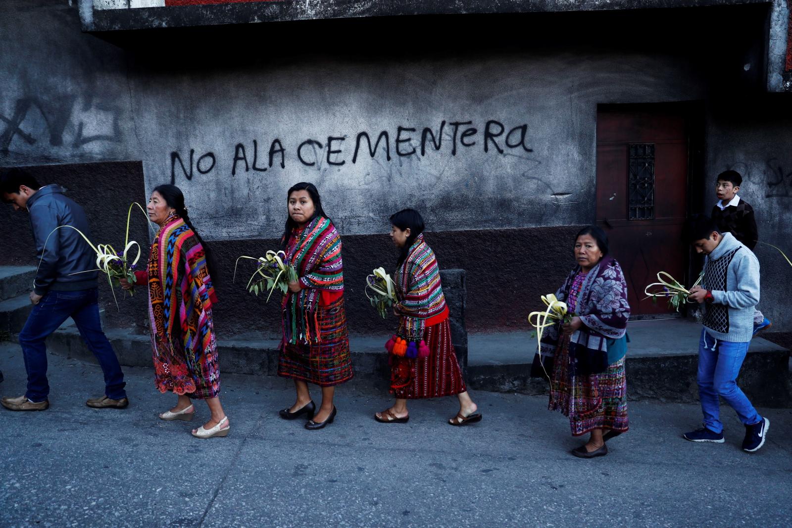 Niedziela Palmowa w Gwatemali/ PAP/EPA/Esteban Biba