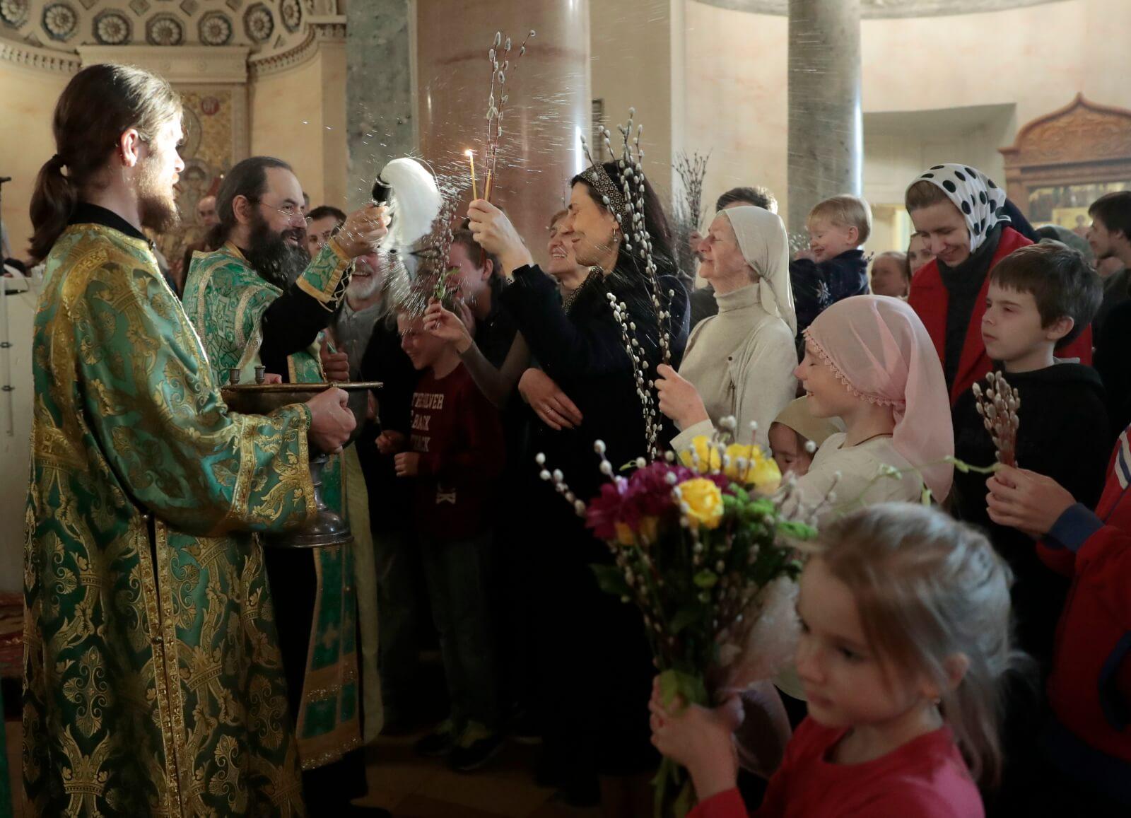 Niedziela palmowa w Kościele prawosławnym fot. EPA/SERGEI CHIRIKOV