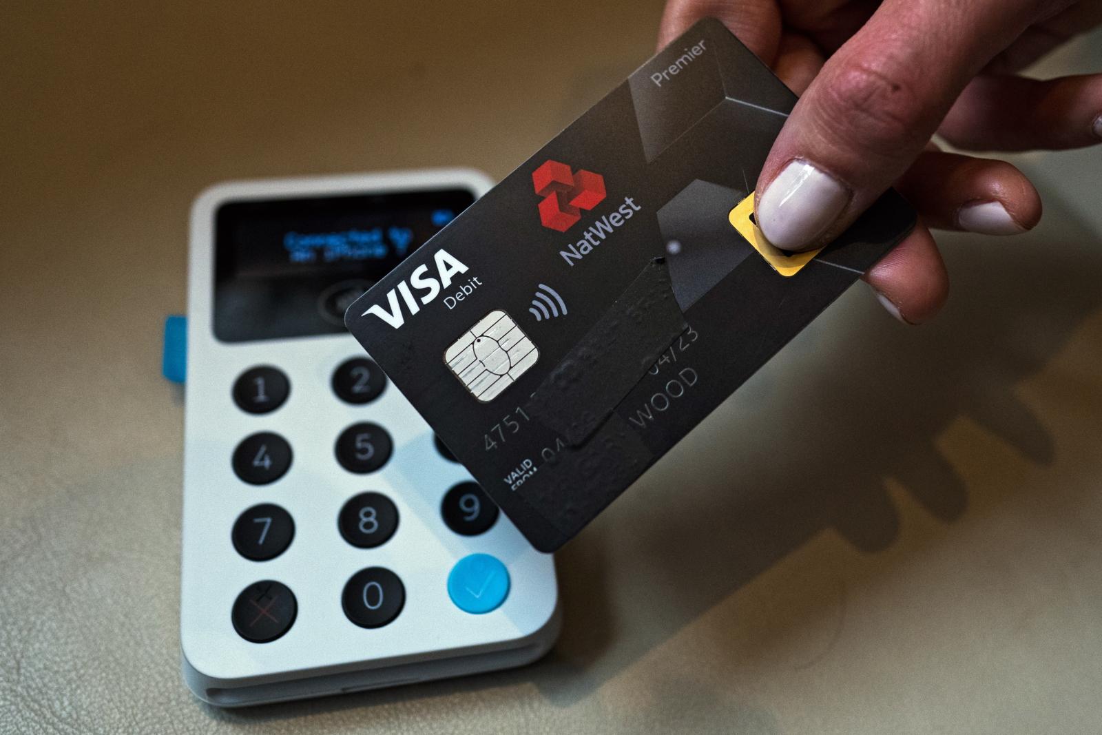 Premiera biometrycznej karty debetowej, Londyn/ EPA/WILL OLIVER