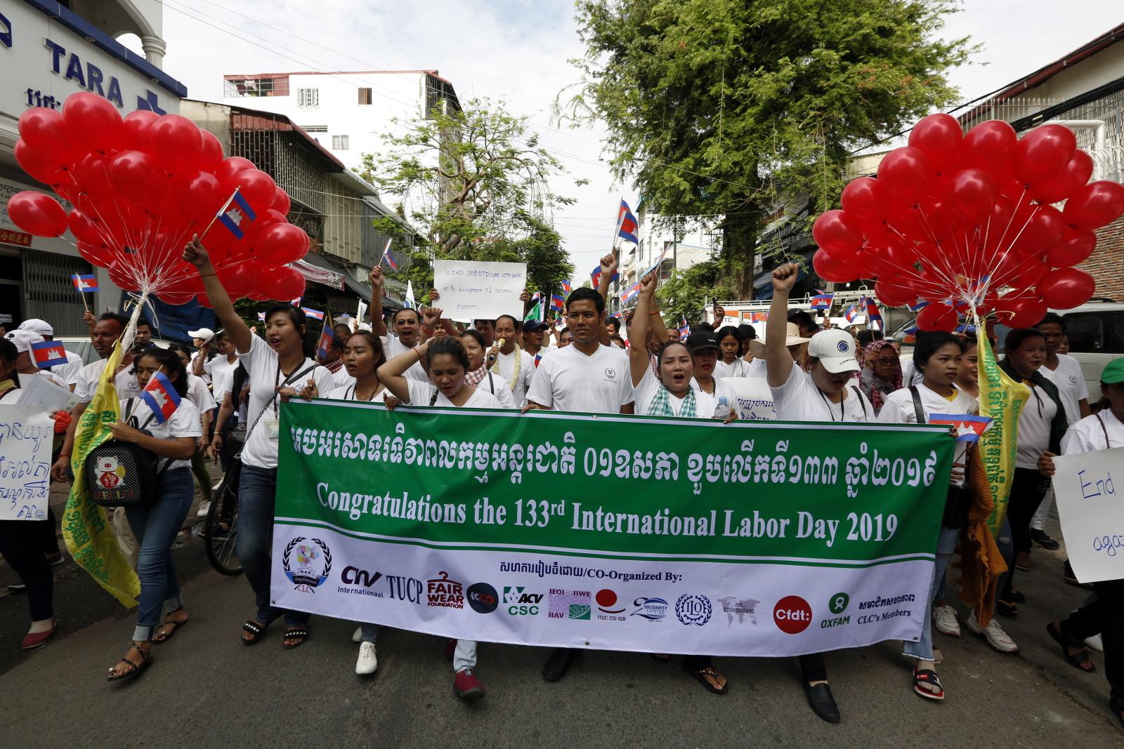 Święto Pracy w Kambodży EPA/KITH SEREY